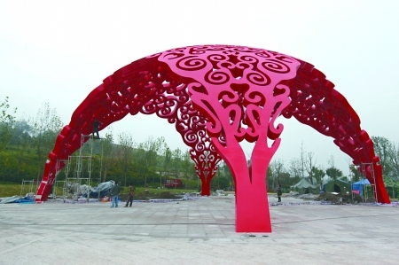 七大雕塑明年春节前亮相 设计灵感源自重庆巨变