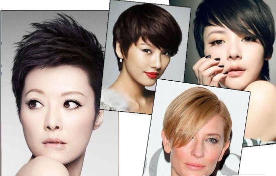 杨幂方便面卷发发型图片短发分享展示