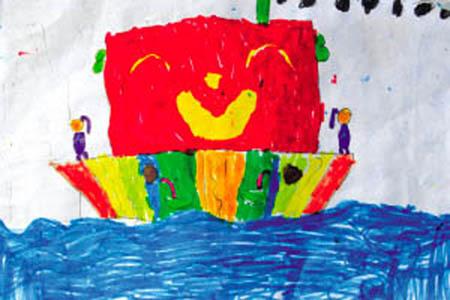 雪糕房子儿童画