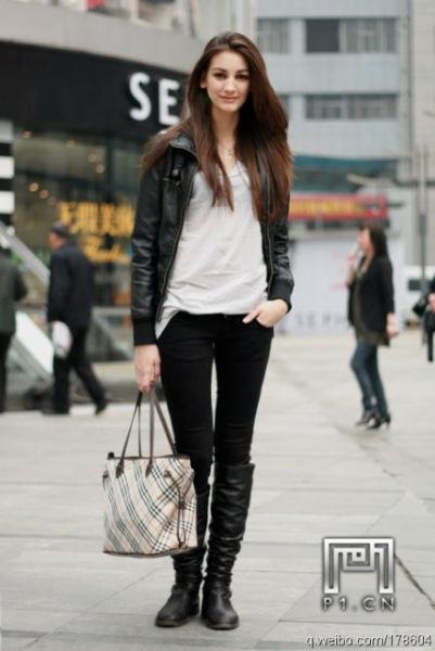 重庆街拍长腿美眉美女高质量窈窕气质如云(图一老太婆变夜美女图片