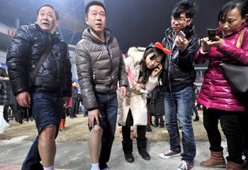 王菲演唱会垮塌事故高清组图