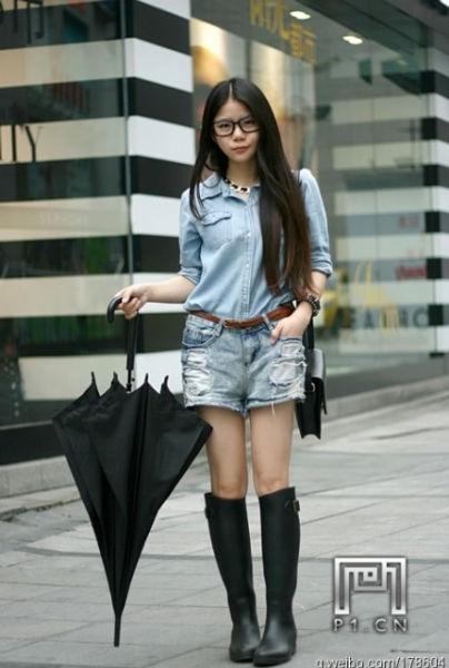 重庆街拍美女