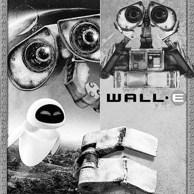 皮克斯版《机器人瓦力》海报