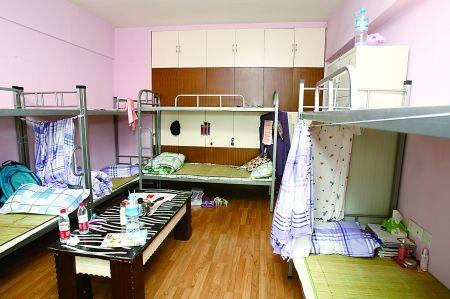 沙区常青藤求职公寓的女生寝室