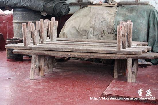 船上的长板凳
