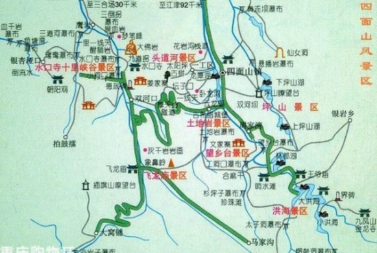 重庆火锅手绘地图