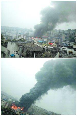 昨日,长寿实验一小综合楼顶楼发生火灾,没有造成人员伤亡。
