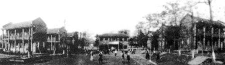 1938年,树人中学(今重庆八中)创办初期学校校貌。