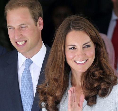 资料图:英国威廉王子与凯特王妃的合影