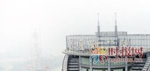 渝中区临江门,重医附二院楼顶为空气质量监测点之一