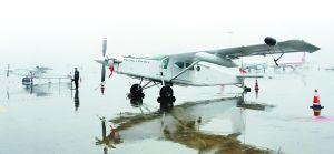 皮拉图斯PC-6飞机。本版图/重庆晨报记者 杨新宇 摄