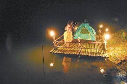 梁小姐在微博中晒出的简陋诺亚方舟。
