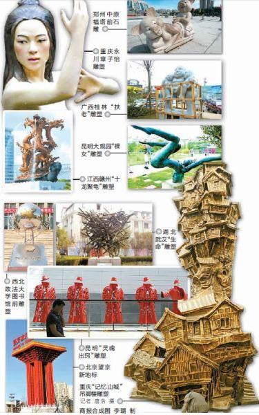 网友评出最丑十大雕塑