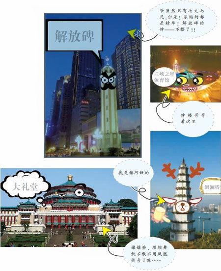 重庆主城地标建筑卖萌照片