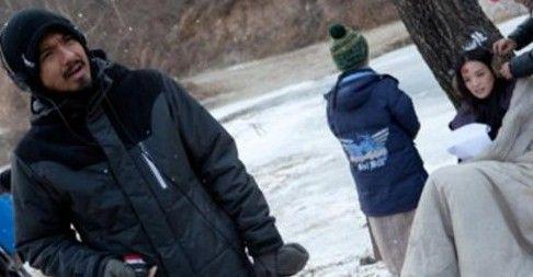 舒淇与冯德伦在《太极》片场