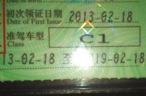 网友在网站上展示的他才拿到的驾驶证