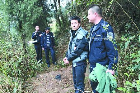 罗某在石柱老家指认掩埋女儿的地方 湖北省荆州市沙市区警方 供图