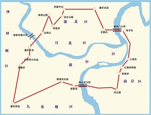 轨道交通环线站点确定 全长50.78公里 共设33座车站-轨道交通环线站