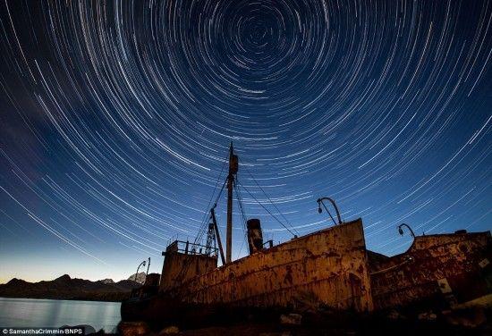 现实版《星空》南极浪漫夜空制成邮票(图)