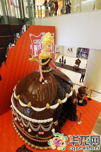 5米高巧克力公主。 记者 罗嘉 摄