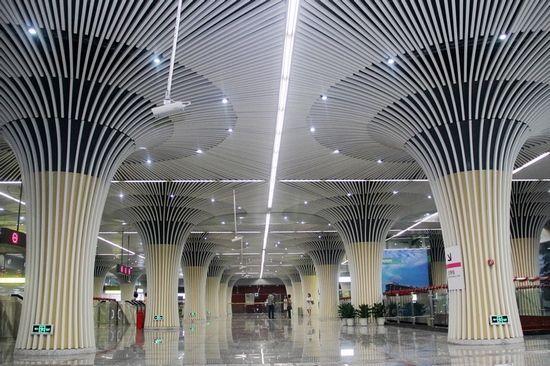 轨道6号线国博线今天开通,市民前往国际博览中心将更加方便了
