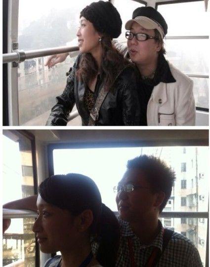 达人乘长江索道 模仿《疯狂的石头》拍照搞笑
