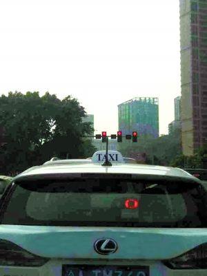 """网友所拍摄的""""高档出租车"""""""