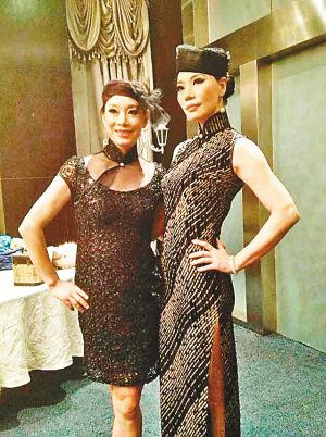 派对上 杨燕(左)准备上场