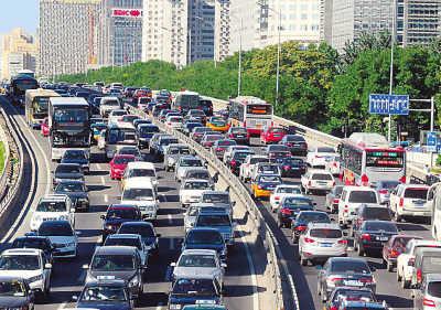 9月北京最堵日 摩托飞机齐上阵