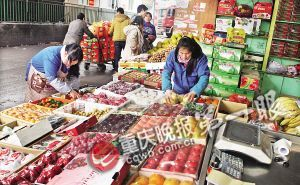 盘溪水果市场为水果狂欢节准备好了各种水果