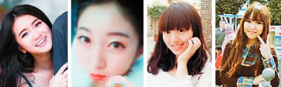 从左至右:贺兰乔月、蔡依倩、毛君竹、杨思桐