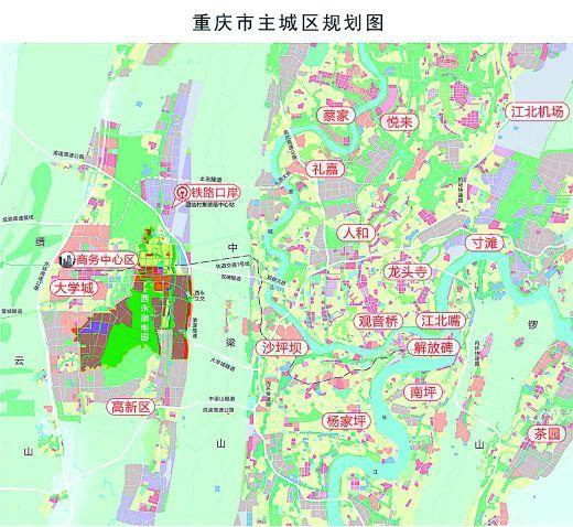 西永片区区域关系图。