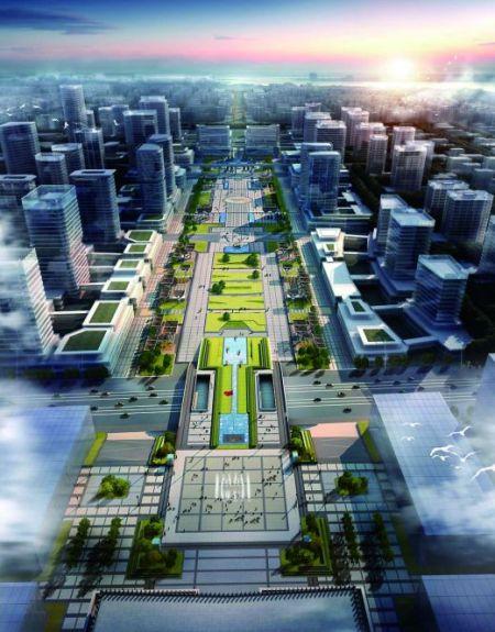 西永广场效果图。 受访者供图