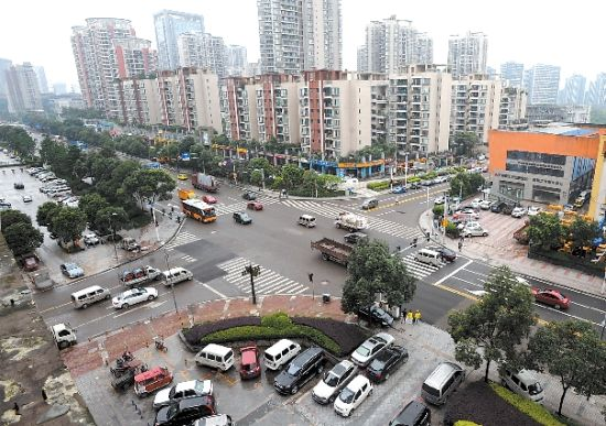 重庆市十字路口红绿灯规则图解