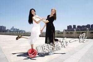 张艺上(黑衣)与李紫薇两人都是从小学习舞蹈
