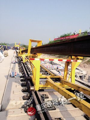 ▲500米长的铁轨