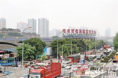 观农贸盘溪蔬菜批发市场今天凌晨关闭,今后将变成城市商业综合体和公园。