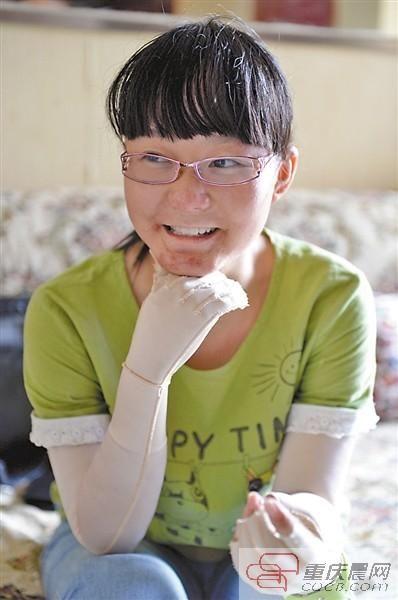 黄雅雯在接受本报记者采访时笑得很灿烂