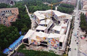从高空俯瞰罗中立美术馆全貌