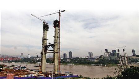 建设中的寸滩长江大桥