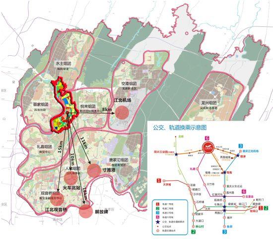 重庆解放碑手绘地图