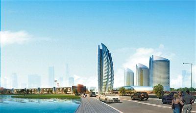 重庆朝天门国际商贸城商务办公区远景图