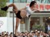 重庆街头钢管舞