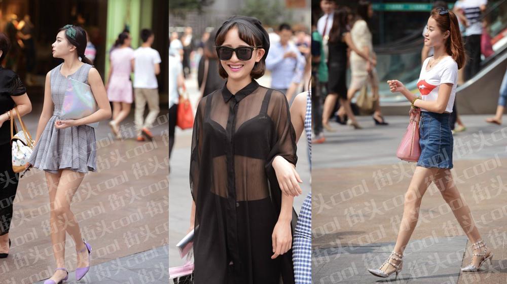 重庆北城天街打望时尚气场妹儿