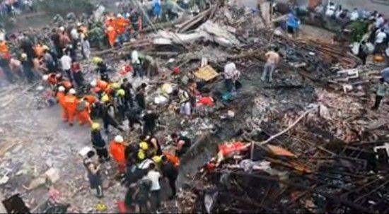 温州瓯海一家庭作坊爆炸13死现场实况
