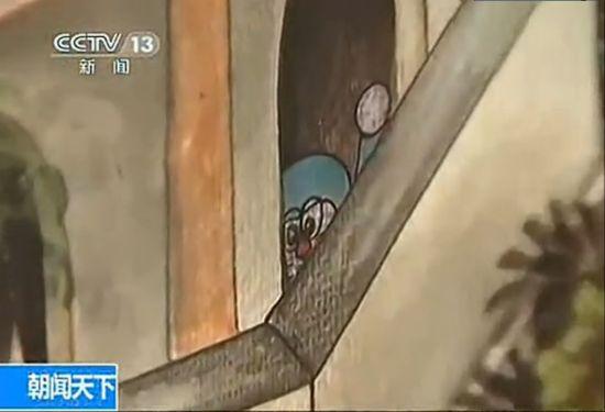 视频:泰国700年古寺壁画上惊现多啦A梦像