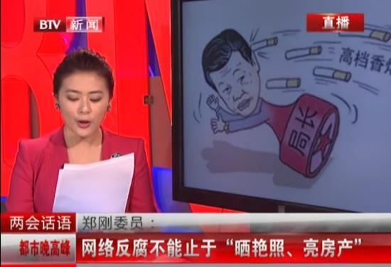 代表委员称网络反腐不能止于晒艳照亮房产
