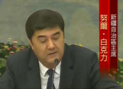 视频:新疆自治区主席称切糕事件或有人挑拨