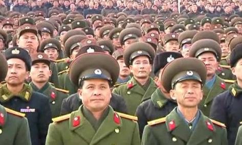 视频:朝鲜十万军民集会示威不承认停战协定