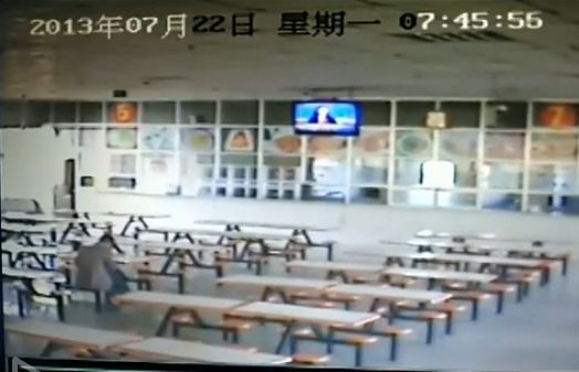 视频:实拍岷县地震食堂被毁瞬间